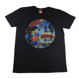 Superman -Doomsday Battle Vintage Official Fitted Jersey DC Comics T Shirt ( Men L ) ***READY TO SHIP from Hong Kong***