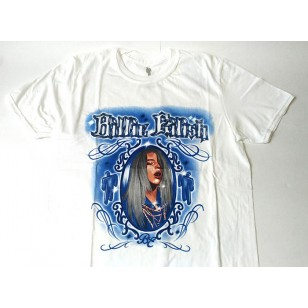 Billie Eilish - Airbrush Photo Fitted Jersey T Shirt ( Men M ) ***READY TO SHIP from Hong Kong***