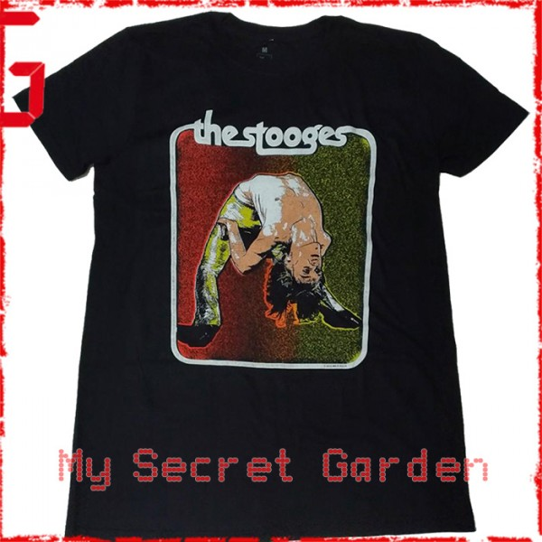Iggy Pop & The Stooges - Iggy Bent Double Official Fitted Jersey T Shirt ( Men M ) ***READY TO SHIP from Hong Kong***