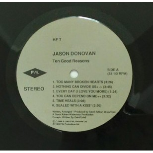 Jason Donovan - Ten Good Reasons 1989 Hong Kong Version Vinyl LP ***READY TO SHIP from Hong Kong***