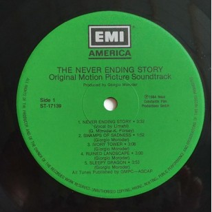 Giorgio Moroder / Klaus Doldinger - The NeverEnding Story (Soundtrack) 1984 Asia Version Vinyl LP ***READY TO SHIP from Hong Kong***