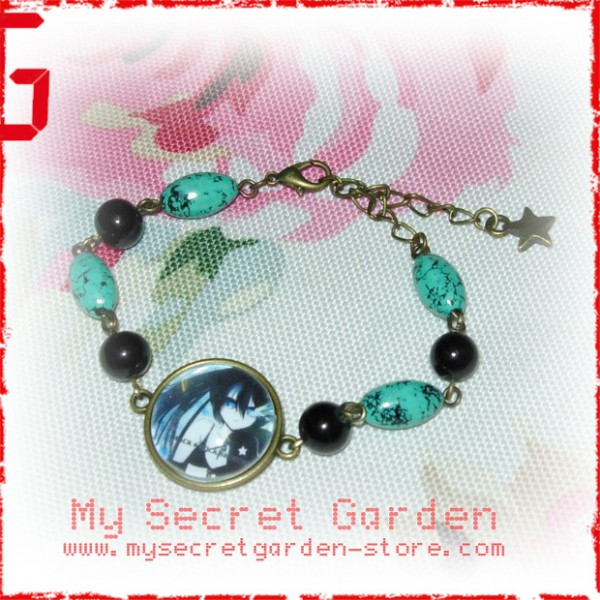 Black Rock Shooter anime Cabochon Bronze Bracelet