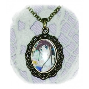 Fruits Basket フルーツバスケットHonda Tohru anime Cabochon Bronze Necklace & Earrings Set