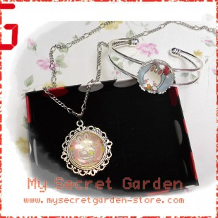 Cheery Chums Cabochon Necklace and Bracelet Set