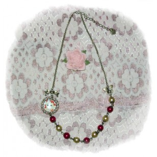 Candy Candy キャンディ・キャンディ Candice White Ardlay anime Cabochon Necklace
