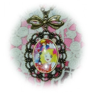 Candy Candy キャンディ・キャンディ Candice White Ardlay Anime Cabochon Bronze Necklace