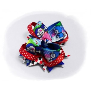 "Doraemon ドラえもん Anime Grosgrain Ribbon Girls 4"" Boutique Bow Hair Bows ( Hair Clip ) # Style A"