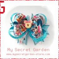 "Minnie & Micxxx Mouse, Goofy Grosgrain Ribbon Girls 4"" Boutique Bow Hair Bows ( Hair Clip or Hair Band)"