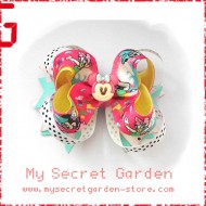 "Minnie Mouse & Daisy Duck Grosgrain Ribbon Girls 4"" Boutique Bow Hair Bows ( Hair Clip or Hair Band)"