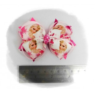 Frozen ( Elsa ) Grosgrain Ribbon Girls Hair Bows ( Hair Clip )