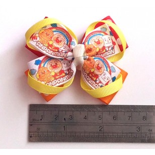 Anpanman Grosgrain Ribbon Girls Hair Bows ( Hair Clip or Hair Band)
