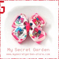 Little Twin Stars Grosgrain Ribbon Girls Hair Bows ( Hair Clip or Hair Band)
