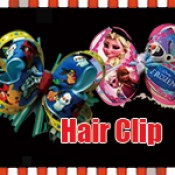 Cartoon Grosgrain Ribbon Hair Bow ( Hair Clip or Hair Band )