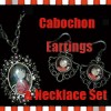 Cabochon Earrings + Necklace Gift Set