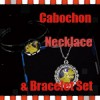 Cabochon Necklace + Bracelet Set