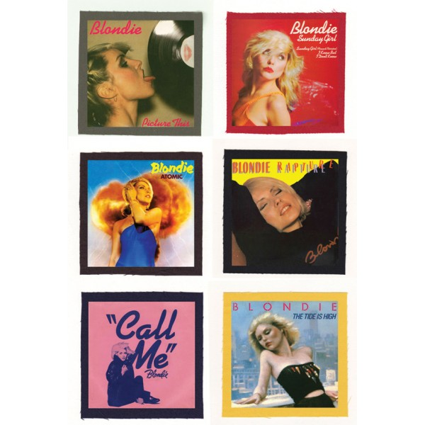 Blondie - Call Me, Rapture, Sunday Girl Cloth Patch or Magnet Set