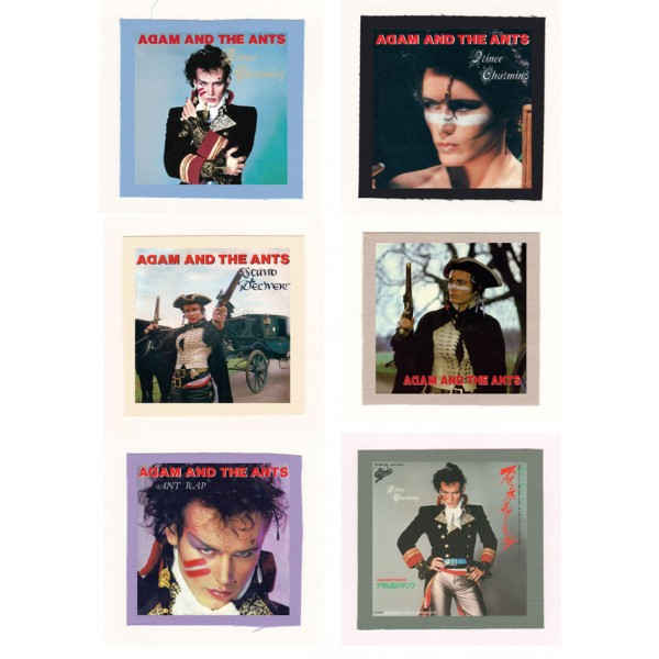 Adam And The Ants- Adam Ant Prince Charming Cloth Patch or Magnet Set