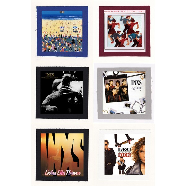 INXS - Shabooh Shoobah, Kick Album Cloth Patch or Magnet Set