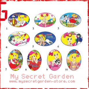 Candy Candy TV anime Oval Magnet Set 1
