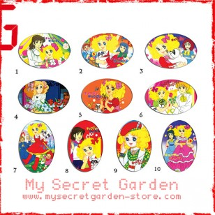 Candy Candy TV anime Oval Magnet Set 3