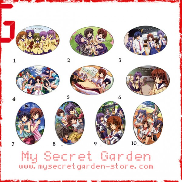 Clannad ( Kuranado ) クラナド anime Oval Magnet Set 2