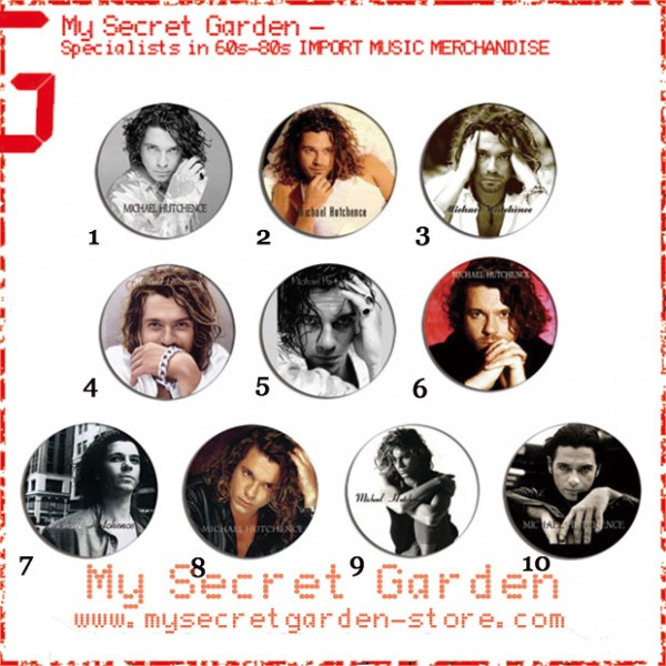 INXS - Michael Hutchence Pinback Button Badge Set 1a ( or Hair Ties / 4.4 cm Badge / Magnet / Keychain Set )