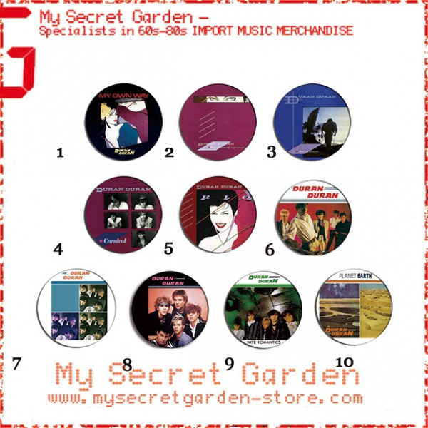 Duran Duran- Rio, Girls On Film Pinback Button Badge Set ( or Hair Ties / 4.4 cm Badge / Magnet / Keychain Set )