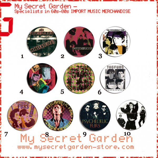 The Psychedelic Furs - Talk Talk Talk, Forever Now Album Pinback Button Badge Set ( or Hair Ties / 4.4 cm Badge / Magnet / Keychain Set )