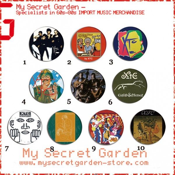 XTC - Drums And Wires, Black Sea, English Settlement Album Pinback Button Badge Set ( or Hair Ties / 4.4 cm Badge / Magnet / Keychain Set )