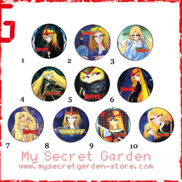 Queen Millennia 新竹取物語 1000年女王 Anime Pinback Button Badge Set