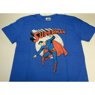Superman - Vintage Image Official Fitted Jersey DC Comics T Shirt ( Men M, L ) ***READY TO SHIP from Hong Kong***